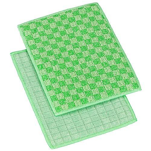 AFZ Innovation Küchen Duo Pad | 2er Set | Dauerhaft antibakterielle Reinigung | Maximale Küchenhygiene | Silbergarn | Bekannt aus TV