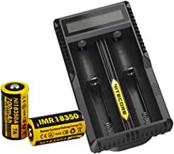 Nitecore Two IMR 18350 Rechargeable Batteries UM20 Charger [EC11]