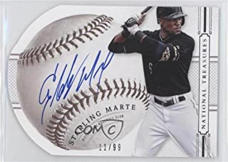Starling Marte #11/99 (Baseball Card) 2014 Panini National Treasures - Baseball Signature Die-Cuts #86