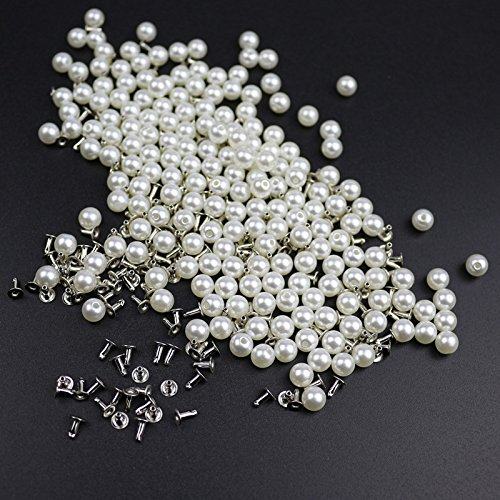 TOOGOO 200pzs 6MM Remaches perla imitacion Accesorios
