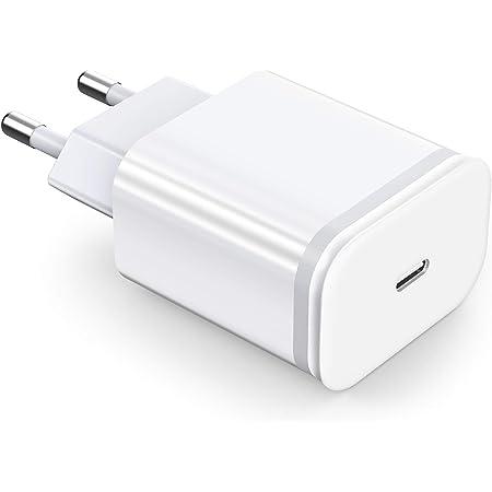 LUOATIP Chargeur Rapide 20W USB C pour iPhone 13/13 Mini / 13 Pro / 13 Pro Max, Prise Secteur Mural PD 3.0 Adaptateur Alimentation de Charge pour iPhone 12 11 SE 2020 X XS XR iPad Pro AirPods Pro