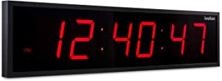 DBTech 0124RED Huge Large Big Oversized Digital LED Clock, Red