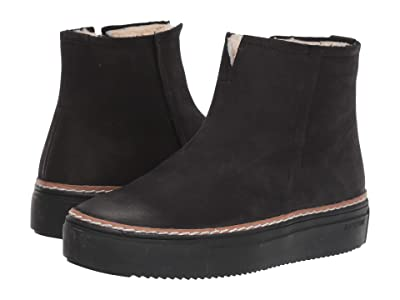 Blackstone Shearling Lined Sneaker Boot OL27 (Black) Women