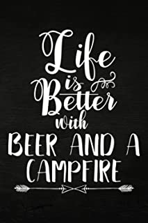 Beekeeping Log Book - Life Is Better With A Beer And A Campfire - Camping Gift Family: Beehive inspection and maintenance ...