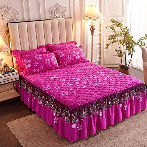 Bettrock 3 piece Ruffle Rock Bedscread Set Rüschen Stil Bett Rock Traditionelles...