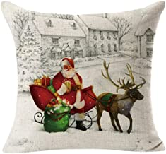 A 4PCS Linen Square Throw Flax Pillow Case Decorative Cushion Pillow Cover by Alburba