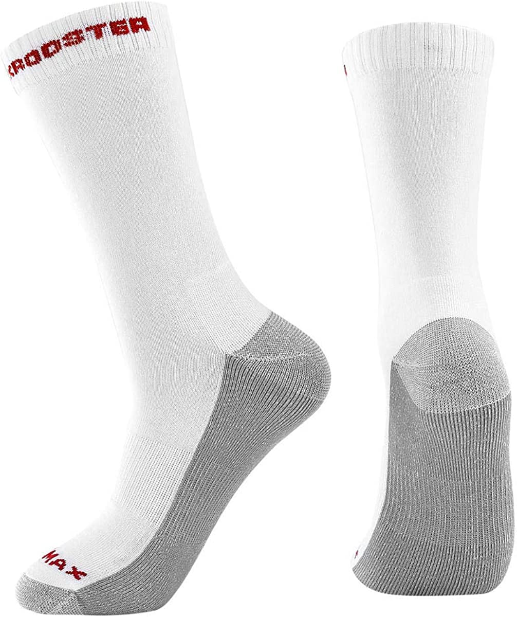 ROCKROOSTER Combo Casual Crew Socks Moisture Control Durable Athlete Socks for Men, COOLMAX, Breathable (9 pack)