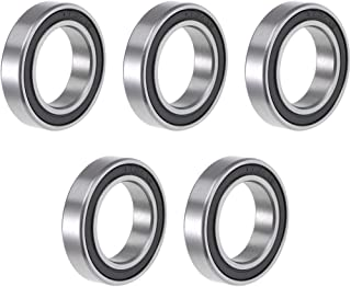 uxcell 6804-2RS Deep Groove Ball Bearing 20x32x7mm Double Sealed ABEC-1 Bearings 5-Pack