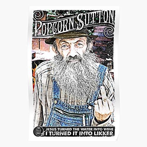 Credobeauty North Tn Carolina Whiskey Tennessee Sutton Moonshine Hillbilly Popcorn Geschenk für Wohnkultur Wandkunst drucken Poster 11.7 x 16.5 inch