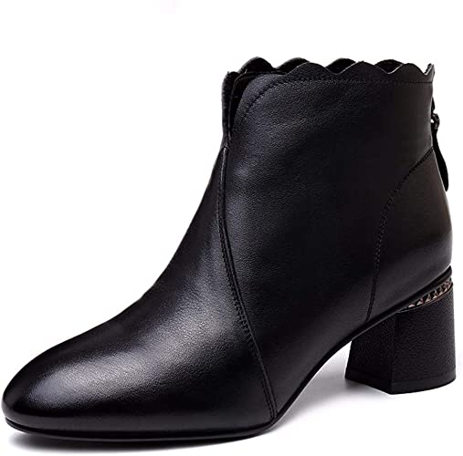 SFSYDDY Chaussures Populaires Haut Moyen Talons Bottes De Nus 6 Cm Bottes Bottines Dur De Bottes.