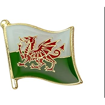 WALES WELSH RED DRAGON FLAG ENAMEL PIN BADGE NEW ST DAVID FREE POST
