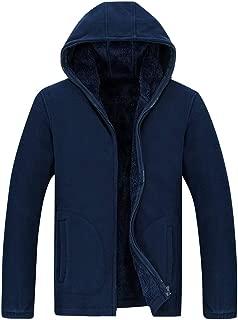 Men Plus Size Autumn Winter Hoodies Coat Jacket Long Sleeve Pockets Fashion Casual Thick Warm Outwear Blouse