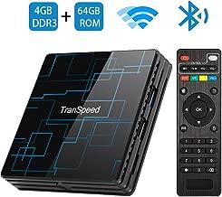 Android TV Box 9.0 4GB RAM 64GB ROM Smart TV Box RK3318 USB 3.0 Ultra HD 4K HDR Dual Band WiFi 2.4GHz 5.8GHz BT 4.1 Set Top Box Streaming Media Player