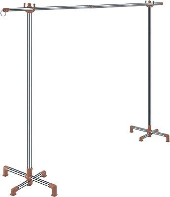 モリ工業(Mory Industries Inc.) 室内ポールスタンド 伸縮竿1本付き カフェオレ 約幅99~180×奥行43×高さ124cm(使用時) RK-02