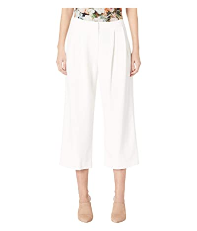Adam Lippes Stretch Cady Pleat Front Culotte (Ivory) Women