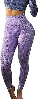 Women's Yoga Pants, Ladies Hip Seamless Jacquard Point High Waist Speed Dry Pants Fitness Leggings