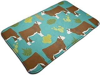 WOWINNER Hereford Cow Welcome Mats Entrance Mat Floor Mat Door Mat Rug Indoor/Outdoor/Front Door/Bathroom/Kitchen/Hotel Carpet 19.7 X 31.5 Inches