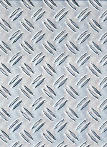 GAH-Alberts 466718 Strukturblech | Riffel-Prägung | Aluminium, natur | 300 x 1000 x 1,5 mm