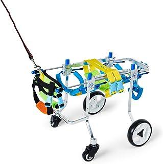 後肢/前肢用の犬用リフティングハーネス車椅子、フルサポートカート、障害のある猫の前肢後肢リハビリテーション、麻痺ウサギ、運動障害のあるペットの生活を変える、10〜20 KG