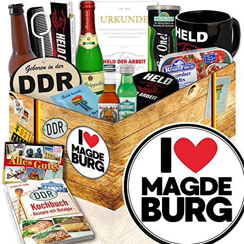 I love Magdeburg / Magdeburg Geschenk Paar / DDR Geschenkbox Mann