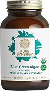 Pure Synergy USDA Organic Klamath Blue Green Algae Powder (3.2 oz) Fully Tested, Non-GMO