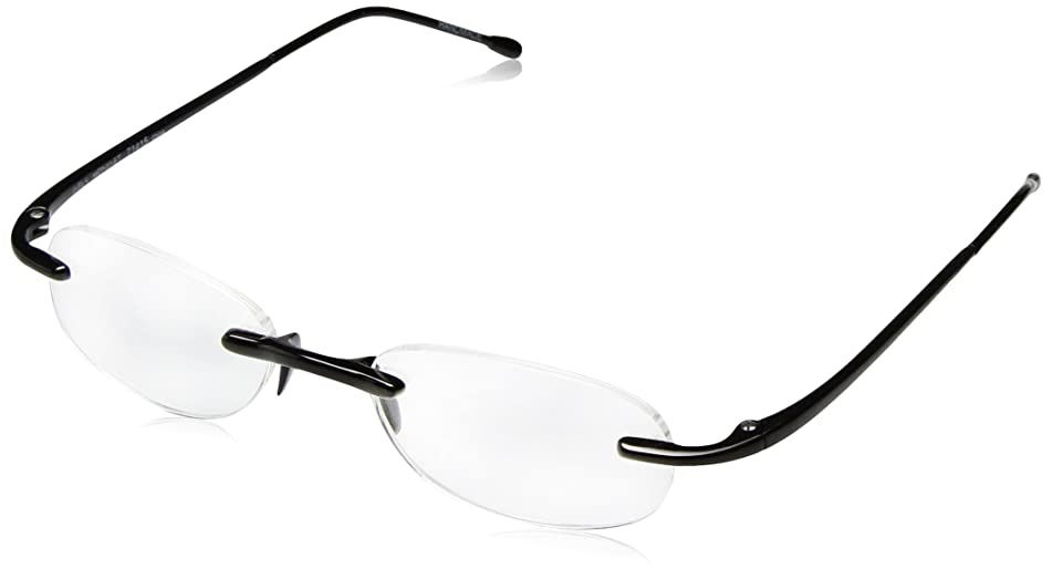 Gels - Lightweight Rimless Fashion Readers - The Original Reading Glasses for Men and Women - Midnight Black (+2.00 Magnification Power)