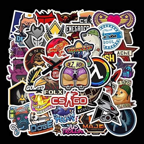 Stickers niet herhalen clan games holografische Elite koffer skateboard notebook plakken papier 50 vellen
