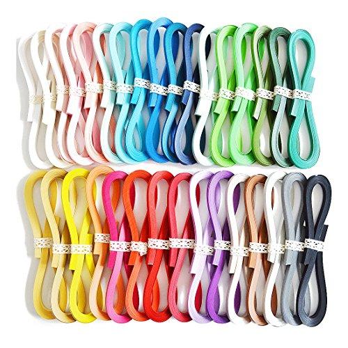 JUYA Tant Papier Quilling-Set 1280 Streifen 32 Farben 39cm Länge/Streifen Papierbreite 3mm