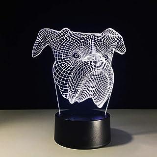 wangZJ ilusión 3d luces led toque colorido decoración de regalo de luz nocturnaregalos para niñosregalo de navidad de ha...
