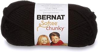Bernat Softee Chunky Yarn, 3.5 Oz, Gauge 6 Super Bulky, Black