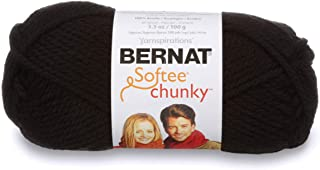 Bernat Softee Chunky Yarn, 3.5 Oz, Gauge 6 Super Bulky, Black