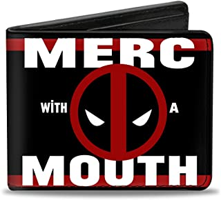 Men'sMarvel Universe Wallet Deadpool Logo Merc With A Mouth Str, -Multi, One Size