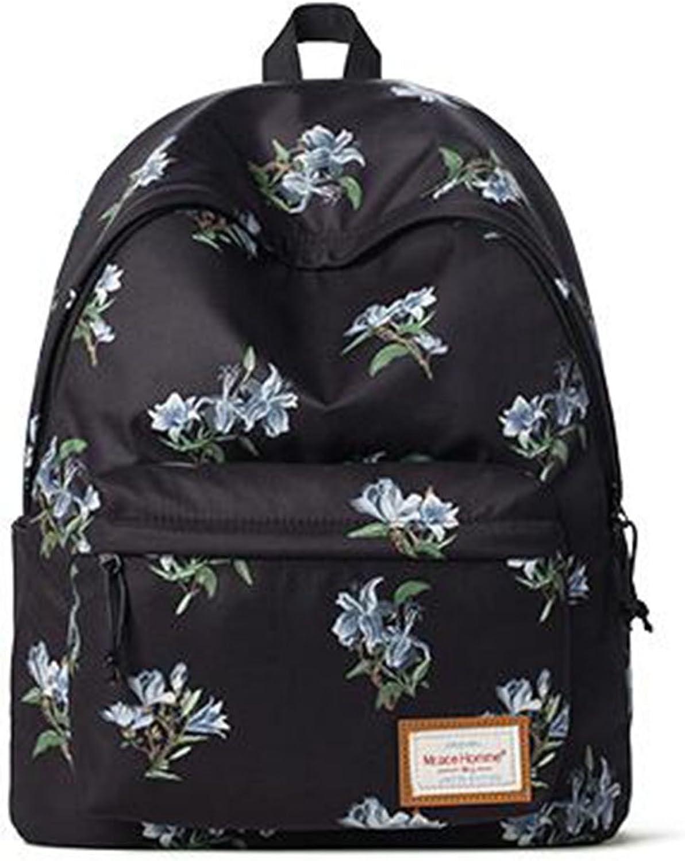 QIDI Backpack Waterproof Printing Travel Simple High Capacity Polyester 30  17  40cm