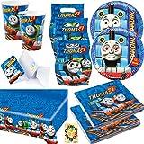 HHO Thomas und Friends Partyset Teller Becher Servietten Tischdecke Tüten Karten für 6 Kinder