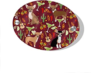 POBUYGBD Chihuahua Fiesta Door Decoration Card MDF 5.5