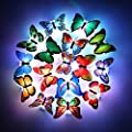 HongFu Solar String Lights, 12 LED Butterfly Shape Solar Powered Lights for Outdoor, Gardens, Patio, Wedding, Homes, Party Decoration…