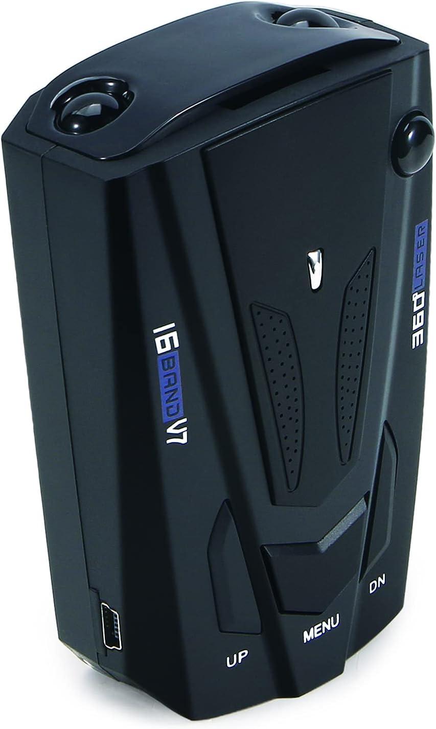 JahyShow Car Radar Detector 360° GPS Speed Police Safe 16 Band Voice Alert Laser (Black)