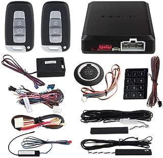 EASYGUARD EC002-K-NS Intelligent car Alarm kit with Passive keyless Entry Automatically Lock Unlock car Door Remote Start Push Start and Touch Password Entry Shock Sensor