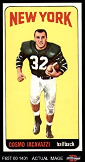 1965 Topps # 118 Cosmo Iacavazzi New York Jets (Football Card) Dean's Cards 6 - EX/MT Jets
