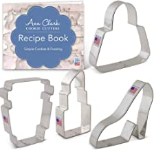 Ann Clark Cookie Cutters 4-Piece Grab It To Go Cookie Cutter Set with Recipe Booklet, Purse, Latte Cup, Platform Shoe and Lipstick