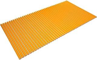 東プレ シャッター式風呂ふた 波型 カラーウェーブ 75×140cm オレンジ L14