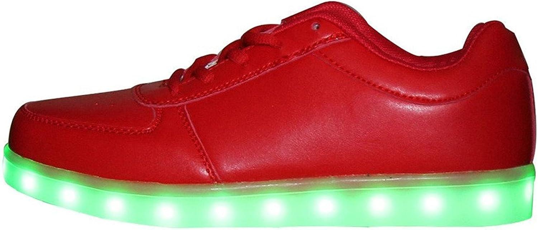 Pilusooou Fashion Unisex Women & Men LED 7 color Lights Chargable Flashing Fashion Casual Flat shoes