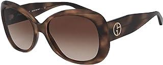 نظارة شمسية جورجيو ارماني AR8132 573413 لون نسائي عدسات بنية مقاس 56 ملم