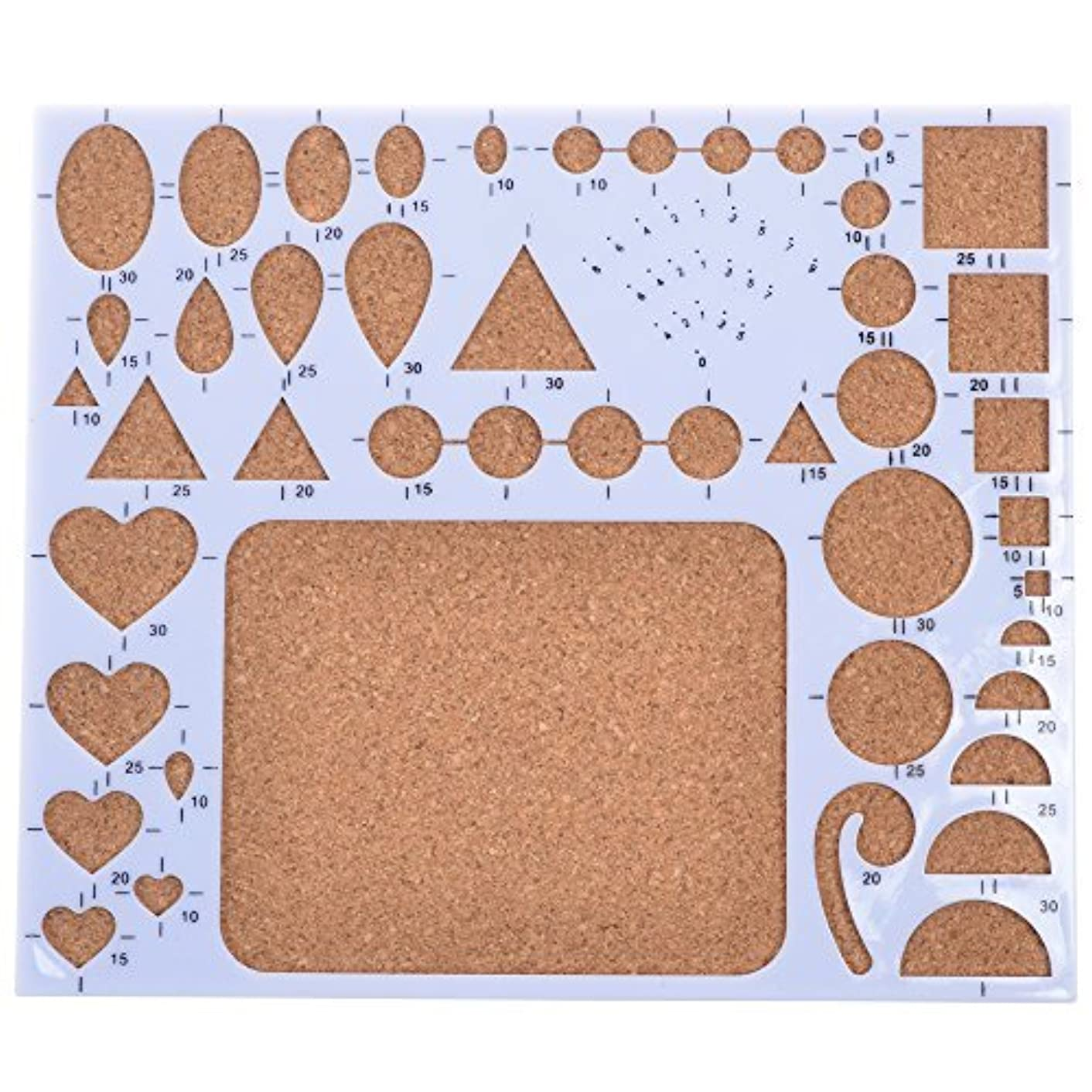 BCP Circle Template Board Paper Quilling Mold Mould Template Board Heart Template Board Quilling Work Board DIY Scrapbooking Paper Quilling Handmade Tools
