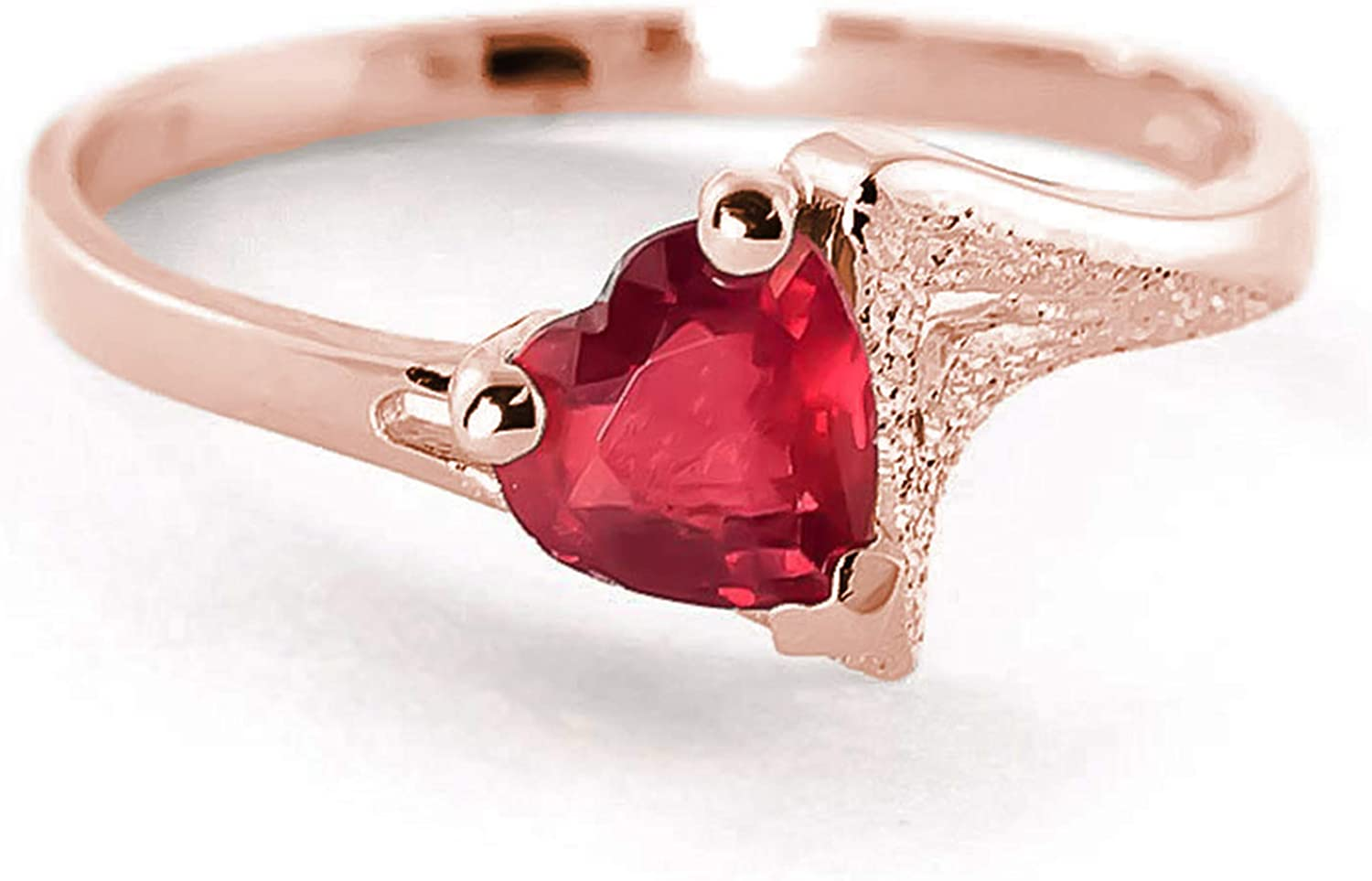 Galaxy Gold GG 1 ct 14k Solid 予約販売品 Rose Solitaire 市場 Heart-Shaped R