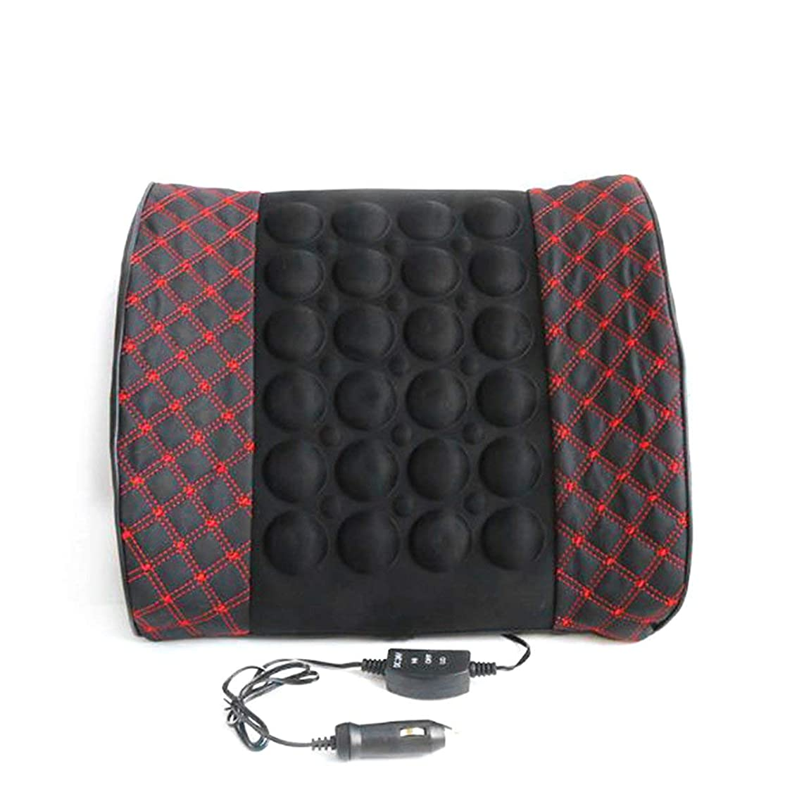 ウェイドめまい経度Microfiber Leather Car Back Support Lumbar Posture Support Breathable Electrical Massage Cushion Health Care Tool