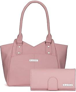 Aisna Women's Combo Handbag & Clutch(Pink)