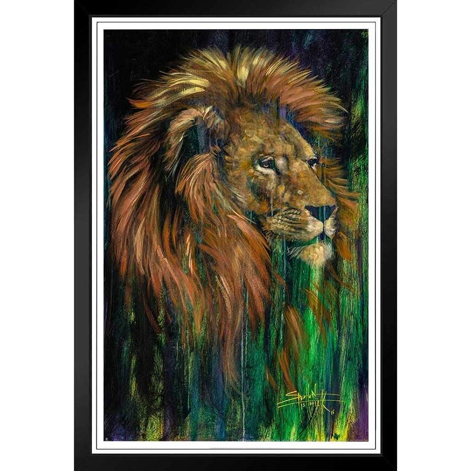 愛情深い緊張言語ファッション絵画 - 欧米風ポスター -スティーブンフィッシュウィックアートによるRo音ライオン絵画 -壁掛け 壁飾り - 39x31cm(額縁を送る)