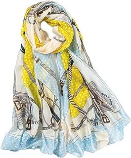 Happy-L Casual Fashion Women's New Silk Scarf New Silk Satin Oversized Holiday Sunscreen Beach Shawl (Color : 04)