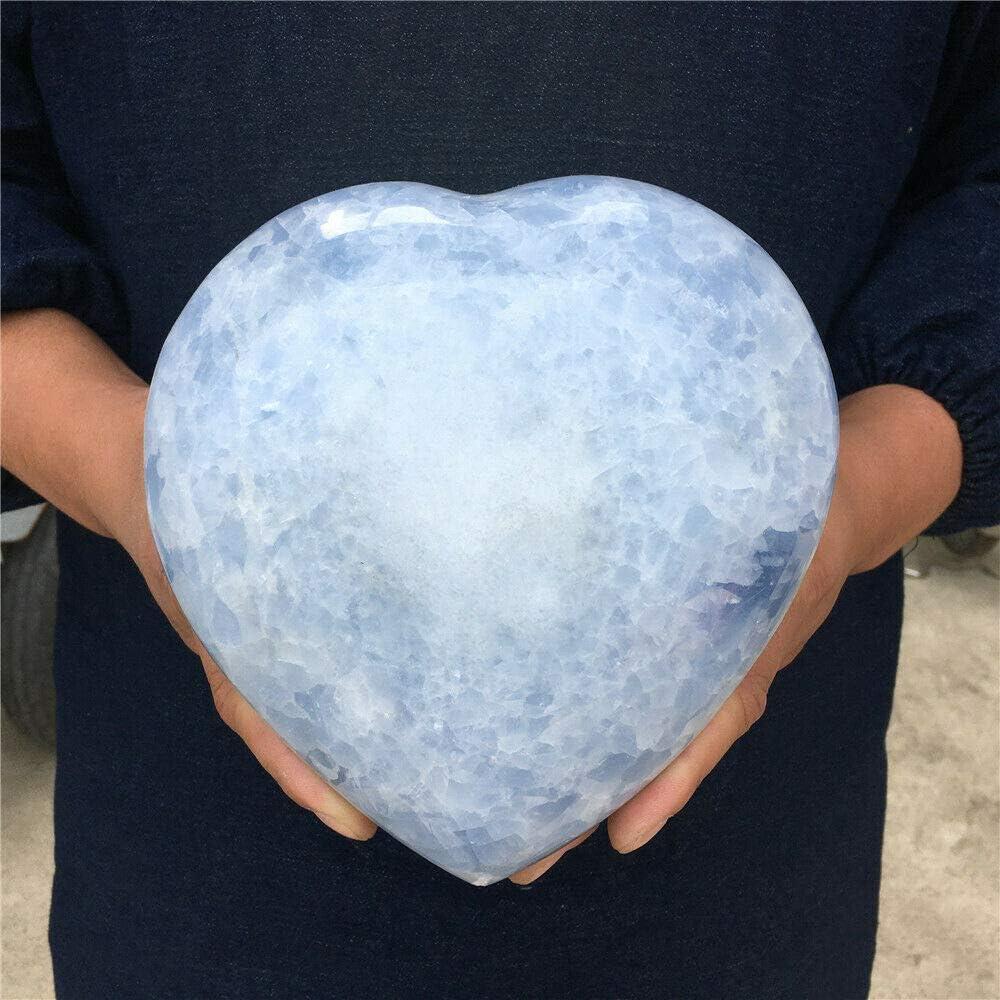 7.92lb Natural Blue Calcite Quartz Limited price sale Crystal Specimen Healin Max 87% OFF Heart